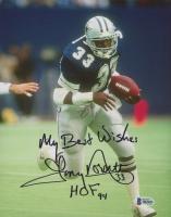 "Tony Dorsett Signed Cowboys 8x10 Photo Inscribed ""My Best Wishes"" & ""HOF 94"" (Beckett COA) at PristineAuction.com"