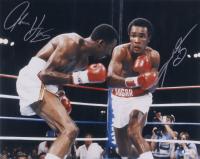 Sugar Ray Leonard & Thomas Hearns Signed 16x20 Photo (Beckett COA) at PristineAuction.com