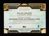 Dylan Carlson 2021 Topps Diamond Icons Diamond Icons Autographs #DIADCA #21/25 at PristineAuction.com