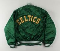 Larry Bird Signed Vintage Celtics Jacket (PSA COA) at PristineAuction.com