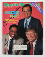 """Mickey Mantle & Willie Mays Signed 1985 """"Sports Illustrated"""" Magazine (JSA ALOA) (See Description) at PristineAuction.com"""