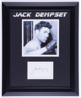 Jack Dempsey Signed 13.5x16.5 Custom Framed Cut Display (JSA COA) (See Description) at PristineAuction.com