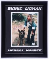 "Lindsay Wagner Signed ""Bionic Woman"" 13.5x16.5 Custom Framed Photo Display (JSA COA) (See Description) at PristineAuction.com"
