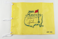 Tiger Woods & Jack Nicklaus Signed LE 2005 Masters Golf Pin Flag (UDA COA) at PristineAuction.com