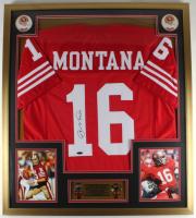 Joe Montana Signed 32x36 Custom Framed Jersey Display (Tristar Hologram) (See Description) at PristineAuction.com