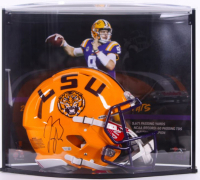 Joe Burrow Signed LSU Tigers Full-Size Authentic On-Field Speed Helmet with LE Custom Curve Display (Fanatics Hologram) at PristineAuction.com