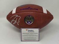 Joe Burrow Signed LSU Tigers Logo Football (Fanatics Hologram) at PristineAuction.com