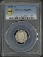 1893-O Barber Dime (PCGS MS 62 PL) at PristineAuction.com