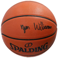 Zion Williamson Signed NBA Game Ball Series Basketball (Fanatics Hologram) at PristineAuction.com