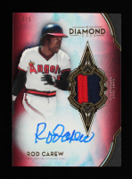 Rod Carew 2021 Topps Diamond Icons Autograph Relics Red #SPARCA #3/5 at PristineAuction.com