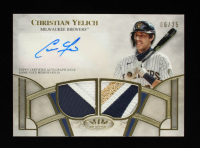 Christian Yelich 2021 Topps Tier One Autograph Relics Dual Patch #T1ARCY #6/25 at PristineAuction.com