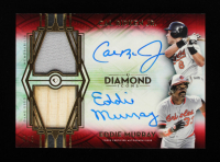Cal Ripken Jr. / Eddie Murray 2021 Topps Diamond Icons Dual Player Autograph Relics Red #DPDARM #4/5 at PristineAuction.com