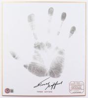 Frank Gifford Signed LE Original Handprint 9.5x11 Handprint Print (Beckett COA) at PristineAuction.com
