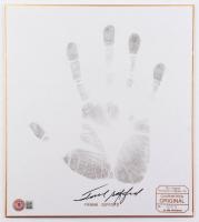 Frank Gifford Signed LE 9.5x11 Original Handprint Print on Board (Beckett COA) at PristineAuction.com