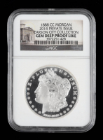 1888-CC 2014 Private Issue Morgan Design Carson City Collection Silver Dollar (NGC Gem Deep Proof Like) (See Description) at PristineAuction.com