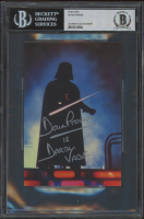 """David Prowse Signed """"Star Wars"""" 4x6 Postcard Inscribed """"Is Darth Vader"""" (BGS Encapsulated) at PristineAuction.com"""