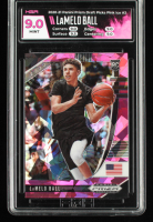 LaMelo Ball 2020-21 Panini Prizm Draft Picks Prizms Pink Ice #3 (HGA 9) at PristineAuction.com
