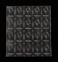 Uncut Sheet of (20) 1 Gram Silver Valcambi Bullion Bars at PristineAuction.com