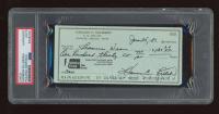 Harmon Killebrew Signed 1981 Bank Check (PSA Encapsulated) at PristineAuction.com