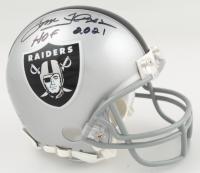 "Tom Flores Signed Raiders Mini Helmet Inscribed ""HOF 2021"" (JSA COA) at PristineAuction.com"