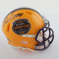 Patrick Queen Signed LSU Tigers 2019 National Champions Speed Mini Helmet (Beckett COA) at PristineAuction.com