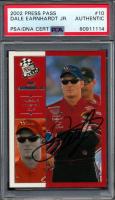 Dale Earnhardt Jr. Signed 2002 Press Pass #10 (PSA Encapsulated) at PristineAuction.com