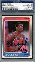Bernard King Signed 1988-89 Fleer #116 (PSA Encapsulated) at PristineAuction.com