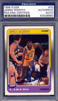 James Worthy Signed 1988-89 Fleer #70 (PSA Encapsulated) at PristineAuction.com