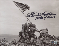 """Hershel W. Williams Signed 8x10 Photo Inscribed """"Medal Of Honor"""" (Beckett COA) at PristineAuction.com"""