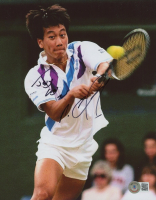 """Michael Chang Signed 8x10 Photo Inscribed """"Jesus Loves You"""" (Beckett COA) at PristineAuction.com"""