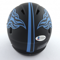 Eddie George Signed Titans Eclipse Alternate Speed Mini Helmet (Beckett COA) at PristineAuction.com