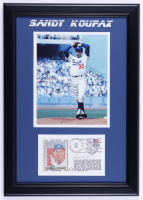 Sandy Koufax Signed 16x21 Custom Framed FDC Envelope with Photo Display (JSA COA) (See Description) at PristineAuction.com