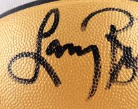 Larry Bird Signed NBA Finals Logo Basketball (PSA COA) at PristineAuction.com