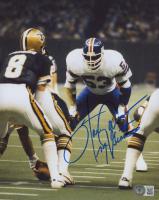 "Harry Carson Signed Giants 8x10 Photo Inscribed ""NY Giants"" (Beckett COA) at PristineAuction.com"