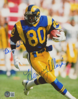 """Henry Ellard Signed Rams 8x10 Photo Inscribed """"Be Blessed"""" (Beckett COA) at PristineAuction.com"""