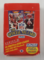 1989 Pro Set Series 2 Football Wax Box with (36) Packs (See Descriptions) at PristineAuction.com