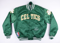 Larry Bird Signed Vintage Celtics Warm-Up Jacket (PSA COA) (See Description) at PristineAuction.com