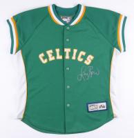 Larry Bird Signed Celtics Warm Up Jacket (PSA COA) at PristineAuction.com