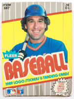 1989 Fleer Baseball Wax Box with (36) Packs (See Description) at PristineAuction.com