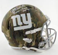"Michael Strahan Signed Giants Full-Size Camo Alternate Speed Helmet Inscribed ""Forever A Giant"" & ""HOF '14"" (Beckett COA) at PristineAuction.com"