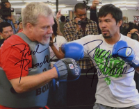 """Manny Pacquiao & Freddie Roach Signed 8x10 Photo Inscribed """"Pacman"""" (Pacquiao COA) at PristineAuction.com"""