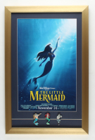 """Wat Disney's """"The Little Mermaid"""" 15x23 Custom Framed Print Display with (3) Little Mermaid Pins at PristineAuction.com"""