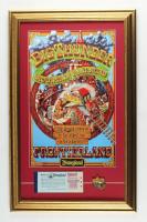 "Walt Disney's ""Big Thunder Mountain Railroad"" 15.5x25 Custom Framed Print Display with Vintage Ticket Booklet & Big Thunder Mountain PIn at PristineAuction.com"