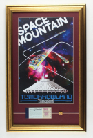 """Disneyland """"Space Mountain"""" 15.5x24.5 Custom Framed Print Display with Vintage Ticket Booklet & Space Mountain Pin at PristineAuction.com"""