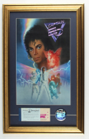 """Michael Jackson """"Captain EO"""" 15.5x24.5 Custom Framed Print Display with Vintage Disney Ticket Book & Captain EO Pin at PristineAuction.com"""