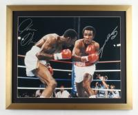 Sugar Ray Leonard & Tommy Hearns Signed 20x24 Custom Framed Photo Display (Beckett COA) at PristineAuction.com
