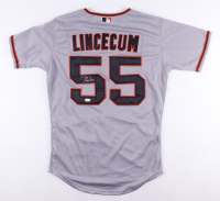 """Tim Lincecum Signed Giants Jersey Inscribed """"Cy 08"""" (JSA COA) at PristineAuction.com"""
