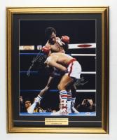 Sugar Ray Leonard & Roberto Duran Signed 20x24 Custom Framed Photo Display (PSA COA) at PristineAuction.com