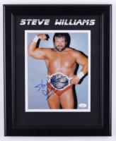 """Steve Williams Signed 13.5x16.5 Framed Photo Inscribed """"Dr. Death"""" (JSA COA) at PristineAuction.com"""