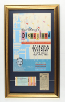 Vintage Disneyland 16x27 Custom Framed Shadowbox Poster Print Display with 1960S Ticket Book & .25 Parking Pass at PristineAuction.com